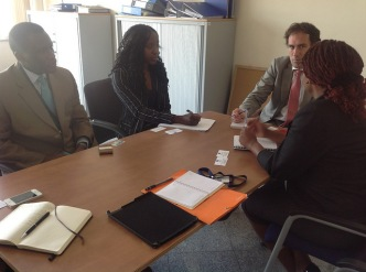 Representatives of the Coalition meet with a delegation from the European Union prior to the AU summit.