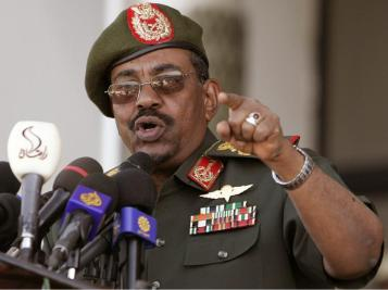 Sudanese President Omar Al-Bashir, suspected by the ICC of war crimes, crimes against humanity and genocide in Darfur.