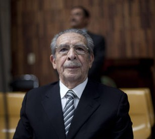 Efrain Rios Montt was found guilty of genocide, but the conviction was overturned and a re-trial ordered. © Saul Martinez/EPA