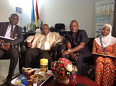 The Coalitions Africa coordinator meets with representatives of the UN High Commissioner for Human Rights in Guinea. © CICC
