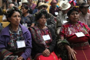 Three Ixil Maya women at the genocide trial of Efrain Rios Montt. © mimundo.org