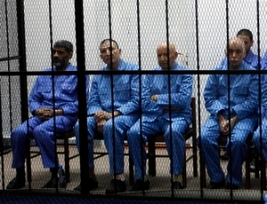 Civil society has questioned the fairness of the trial of former Libyan officials, including ICC suspects Saif Gaddafi and Abdullah Al-Senussi. © 2014 Reuters