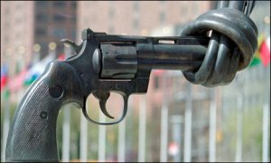 The Arms Trade Treaty aims to stop the flow of arms into the hands of war criminals.