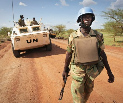 UN peacekeepers will arrive in the Central African Republic as early as September. © UNMIS PHOTO/STUART PRICE