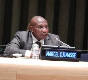 Marcel Djimassé, un miembro del parlamento de la República Centroafricana, habla del conflicto en el país. © Parlamentarios por la Justicia Global