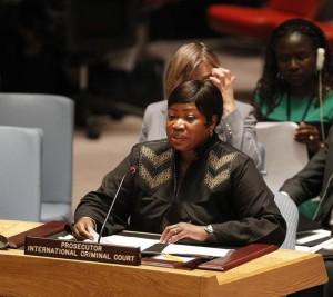 ICC Prosecutor Fatou Bensouda reports to the UN Security Council on the situation in Darfur, Sudan. © UN Photo/Paulo Filgueiras