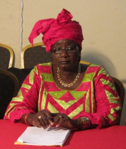 Mama Koite Doumbia, president of the Malian Coalition for the ICC. © CICC