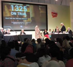 A mock trial at the Global Summit. © CICC
