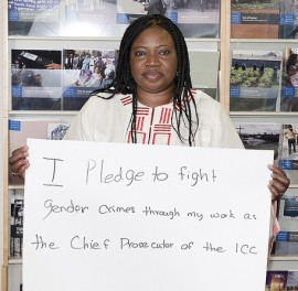 ICC Prosecutor Fatou Bensouda shows her support for ending sexual and gender-based violence. © Stop Rape in Conflict