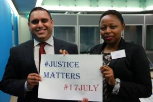 You can help celebrate International Justice Day by telling the world that #JusticeMatters. © ICC