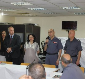 Justice Without Frontiers organized a training session on sexual and gender-based crimes for Lebanons Internal Security Forces. © Brigitte Chelebian