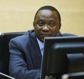 Kenyan President Uhuru Kenyatta appears in an ICC courtroom. © APA
