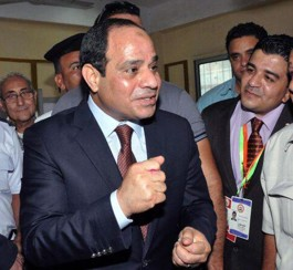 Abdel Fattah El-Sisi was elected president in early June. © Middle East Monitor