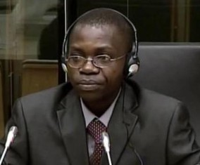A witness testifies in the case against Germain Katanga and Mathieu Ngudjolo Chui. © iLawyer