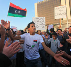 Protesters in Libya ©REUTERS