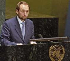 Prince Zeid Ra'ad Zeid Al-Hussein, Permanent Representative of Jordan addresses the UN General Assembly. © UN Photo: Rick Bajornas