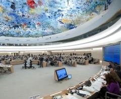 The Human Rights Council in Geneva. © Jean-Marc FerrŽ