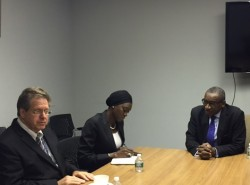 Sidiki Kaba meets with Coalition Convenor William Pace.