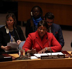 ICC Prosecutor Fatou Bensouda addresses the UN Security Council. © Permanent Mission of Argentina to the UN
