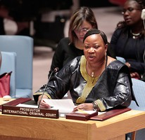 ICC Prosecutor Fatou Bensouda addresses the UN Security Council. © UN Photo