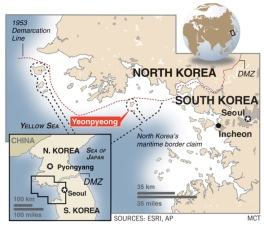 TWO ALLEGED attacks by North Korea on South Korean military targets in the Yellow Sea in 2010 do not meet the threshold for a full ICC investigation, the ICC prosecutor announced in June this year. © MCT.