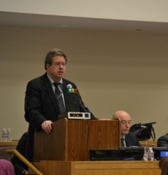 Coalition for the ICC Convenor William Pace addresses the Assembly of States Parties. © CICC/Gabriella Chamberland