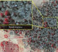 A satellite image showing destruction caused by recent Boko Haram attacks in northeast Nigeria. © DigitalGlobe