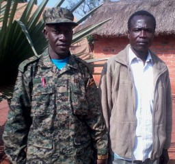 LRA commander Dominic Ongwen in custody in the Central African Republic. © African Union Peace