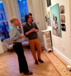 Human Rights Watch's Richard Dicker and Bradley McCallum at Kinz + Tillou Fine Art Gallery in Brooklyn. © CICC