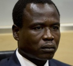 Dominic Ongwen during his initial appearance before ICC judges. © AFP