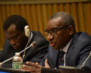 ASP President Sidiki Kaba at the 13th session of the Assembly of States Parties. © CICC/Gabriella Chamberland