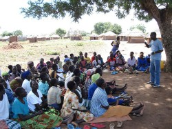 ICC outreach workers meet with victims and others affected by the conflict in northern Uganda. © ICC-CPI