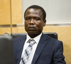 Former LRA commander Dominic Ongwen appears in an ICC courtroom. © ICC-CPI
