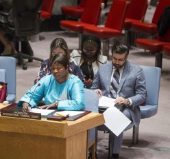 ICC Prosecutor Fatou Bensouda addresses the Security Council. © UN Photo/Loey Felipe