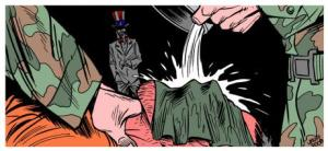 An image depicting waterboarding. © DeviantArt/Latuff2