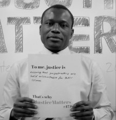The Coalition for the ICC's Stephen Lamony urges governments to hold perpetrators of grave crimes accountable. © CICC