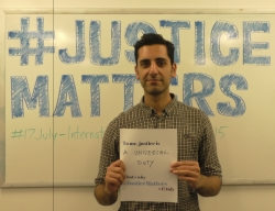 Coalition staff celebrate International Justice Day. © CICC