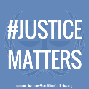 #JUSTICEMATTERS Social Media Icon Blue