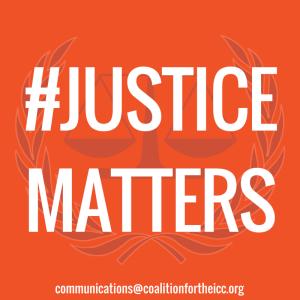 #JUSTICEMATTERS Social Media Icon Orange