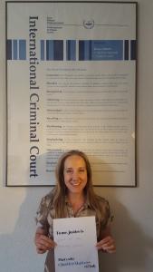 Coalition for the ICC Europe Coordinator Kirsten Meersschaert Duchens. © CICC