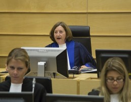 ICC President Judge Silvia Fernández de Gurmendi delivers the appeal ruling on Kenyas cooperation. © ICC-CPI