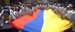 Peace demostrators, Colombia. © deracamandaca.com
