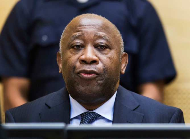 Former Ivory Coast President Laurent Gbagbo attends a confirmation of charges hearing in his pre-trial at the International Criminal Court in The Hague February 19, 2013. Gbagbo is charged with crimes against humanity committed during the 2011 civil war sparked by his refusal to accept the election victory of rival Alassane Ouattara. REUTERS/ Michael Kooren (NETHERLANDS - Tags: POLITICS CRIME LAW)